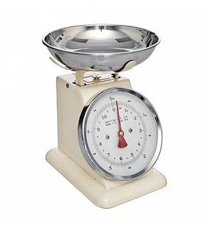Retro Style Enamel Kitchen Scales