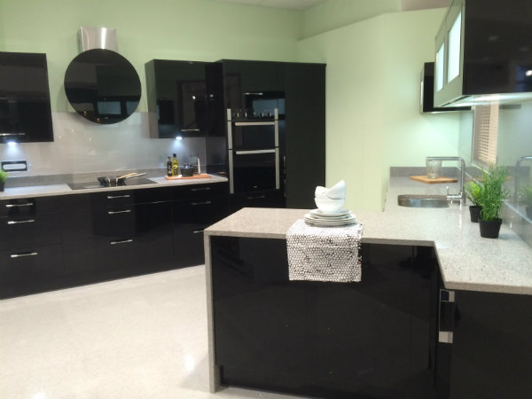 Sleek Black Contemporary Kitchen Design