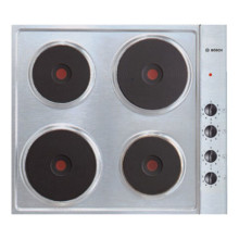 Bosch H65xW580xD510 Solid Plate 4 Burner Hob - Stainless Steel