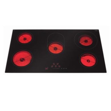 CDA H55xW900xD520 Ceramic 5 Burner Hob - Stainless Steel