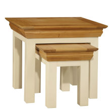 Farmhouse Ivory Nest of Tables (Set of 2)