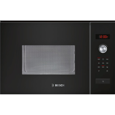 Bosch H382xW594xD388 25L Integrated Microwave - Black