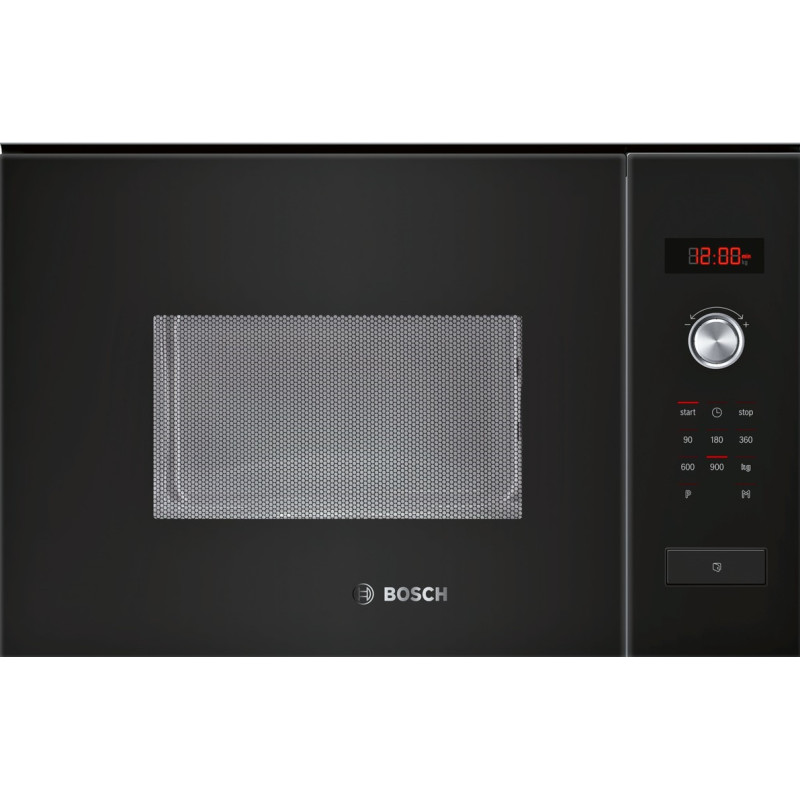 Bosch H382xW594xD388 25L Integrated Microwave - Black primary image