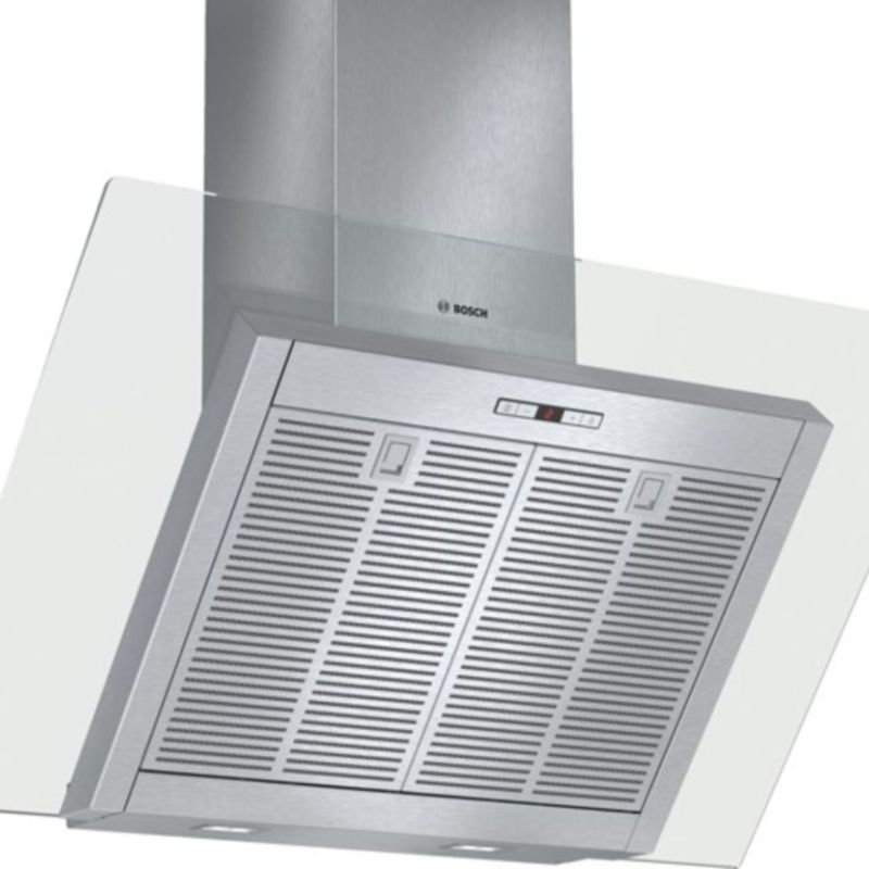 Bosch H865xW900xD441 Chimney Cooker Hood - Stainless Steel and Angled Glass primary image