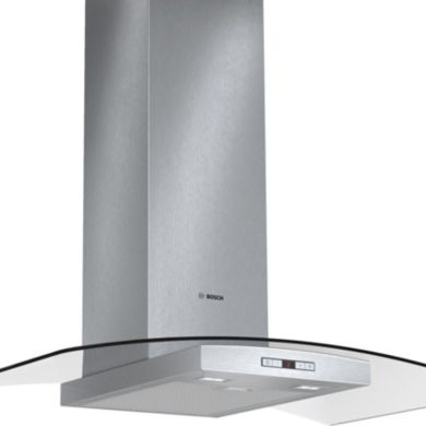 Bosch H638xW900xD540 Chimney Cooker Hood - Stainless Steel and Curved Glass