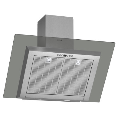 Neff H441xW900xD865 Chimney Cooker Hood - Stainless Steel and Grey Glass