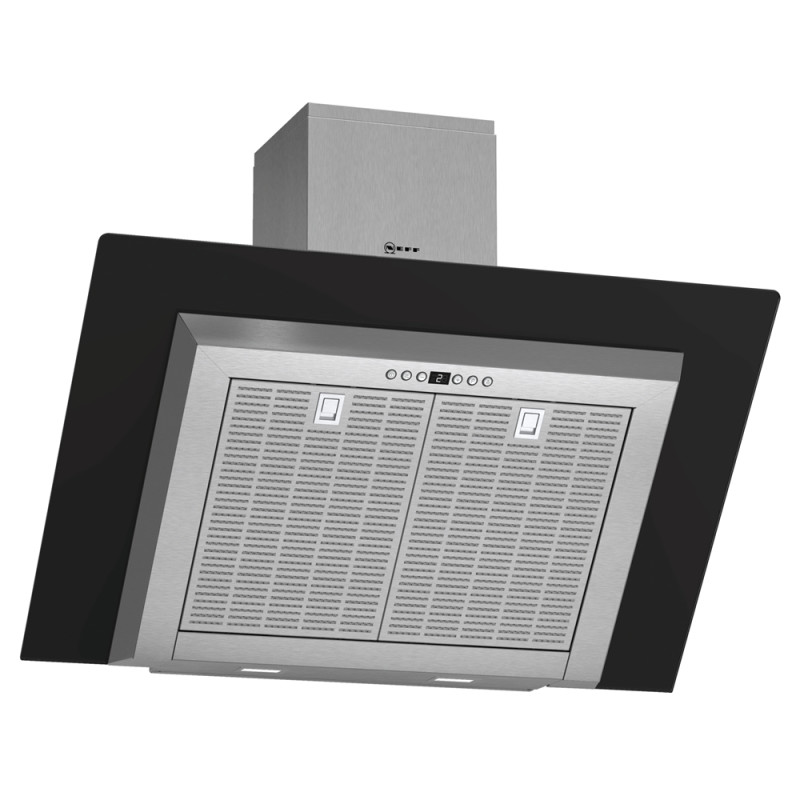 Neff H441xW900xD865 Chimney Cooker Hood - Stainless Steel and Black Glass primary image