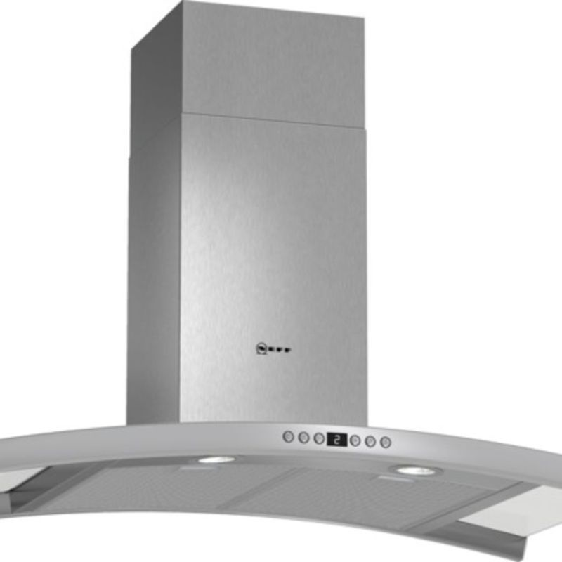 Neff H667xW900xD500 Chimney Cooker Hood - Stainless Steel and Grey Glass primary image