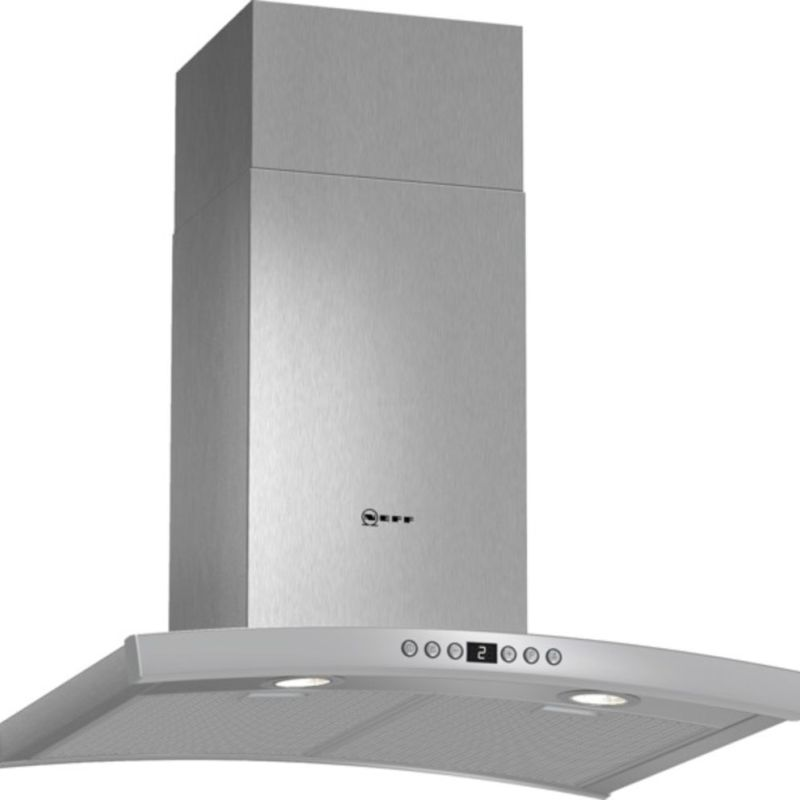 Neff H641xW600xD500 Chimney Cooker Hood - Stainless Steel primary image
