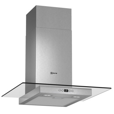 Neff H634xW600xD540 Chimney Cooker Hood - Stainless Steel and Grey Glass