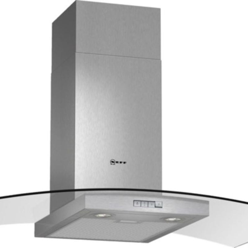 Neff H638xW900xD540 Chimney Cooker Hood - Stainless Steel and Grey Glass - D89GR22N0B primary image
