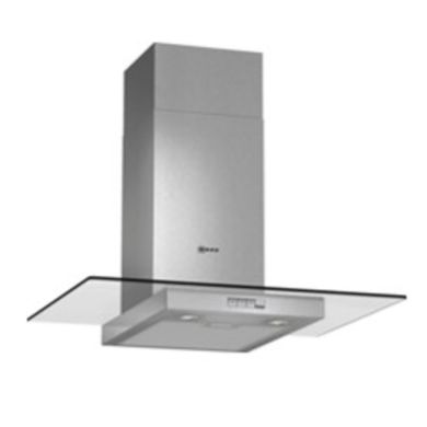 Neff H634xW700xD540 Chimney Cooker Hood - Stainless Steel and Grey Glass - D87ER22N0B