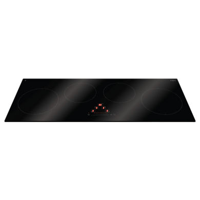 CDA H50xW900xD350 Linear Induction 4 Zone Hob - Black Glass