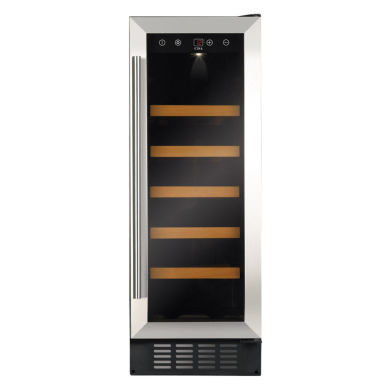 CDA H820-888xW295xD570 Under Counter Wine Cooler - Stainless Steel