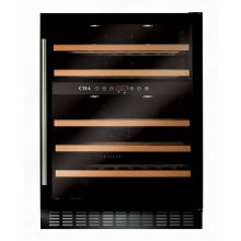 CDA H888xW595xD570 Under Counter Wine Cooler - Black (2 Zone)