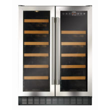 CDA H820xW595xD570 Under Counter Wine Cooler - Stainless Steel (2 Zone)