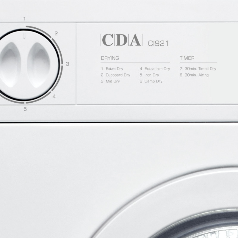 CDA H890xW596xD545 Fully Integrated Dryer (7kg) additional image 2