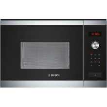 Bosch H382xW594xD388 25L Integrated Microwave - Steel and Black Glass