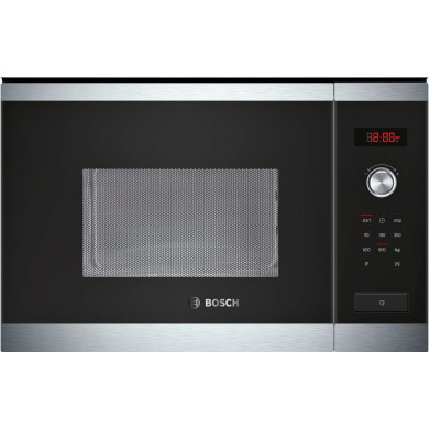 Bosch HMT84M654B 25L Integrated Microwave - Steel and Black Glass - HMT84M654B