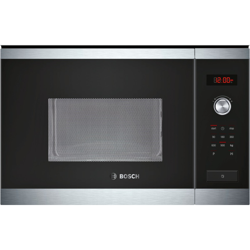 Bosch HMT84M654B 25L Integrated Microwave - Steel and Black Glass - HMT84M654B primary image
