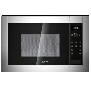 Neff H382 xW594xD317 20L Integrated Wall Microwave - Stainless Steel - H11WE60N0G