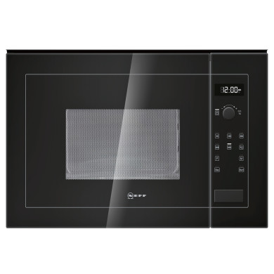 Neff H382xW594xD317 20L Integrated Wall Microwave - Black - H11WE60S0G