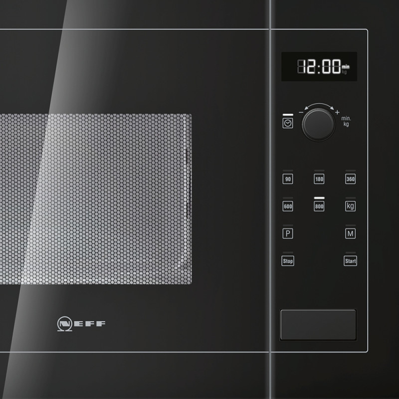 Neff H382xW594xD317 20L Integrated Wall Microwave - Black - H11WE60S0G additional image 4