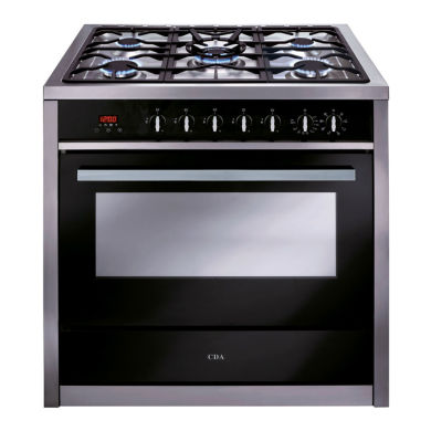 CDA H910xW900xD600 900mm Dual Fuel Rangecooker Single Cavity - Stainless Steel - RV911SS