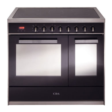 CDA H910xW900xD600 900mm All Electric Rangecooker Twin Cavity - Stainless Steel