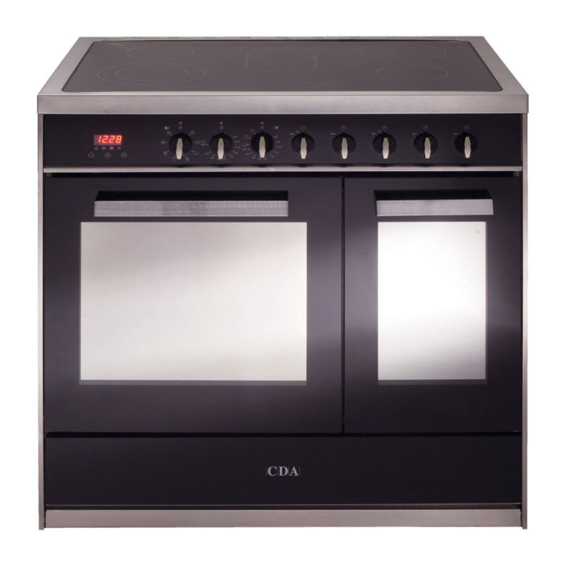 CDA H910xW900xD600 900mm All Electric Rangecooker Twin Cavity - Stainless Steel primary image