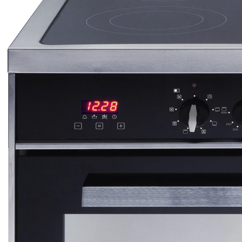 CDA H910xW900xD600 900mm All Electric Rangecooker Twin Cavity - Stainless Steel additional image 2