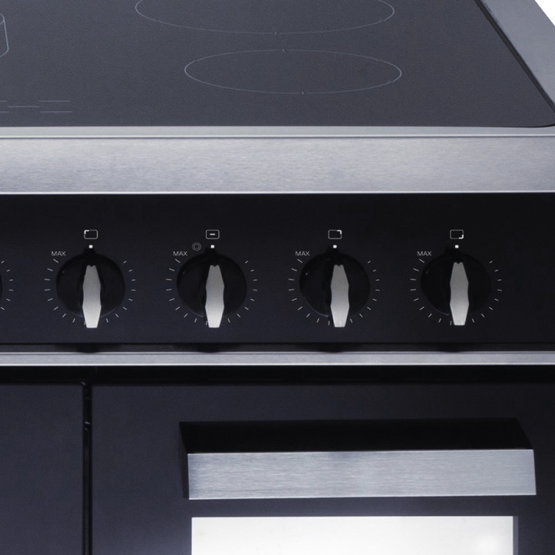 CDA H910xW900xD600 900mm All Electric Rangecooker Twin Cavity - Stainless Steel additional image 4