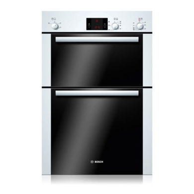 Bosch H888xW595xD550 Electric Double Fan Oven - White