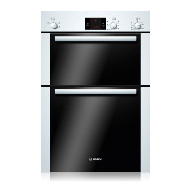 Bosch H888xW595xD550 Electric Double Fan Oven - White primary image
