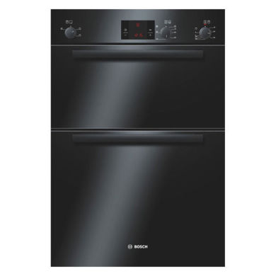 Bosch H888xW595xD550 Electric Double Fan Oven - Black
