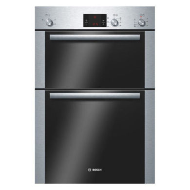 Bosch H888xW595xD550 Built-In Electric Double Fan Oven - Stainless Steel