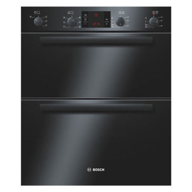 Bosch H717xW595xD550 Built-Under Electric Double Multi-Function Oven - Black