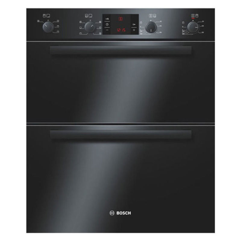 Bosch H717xW595xD550 Built-Under Electric Double Multi-Function Oven - Black primary image
