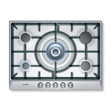 Bosch H45xW702xD520 Gas 5 Burner Hob - Stainless Steel
