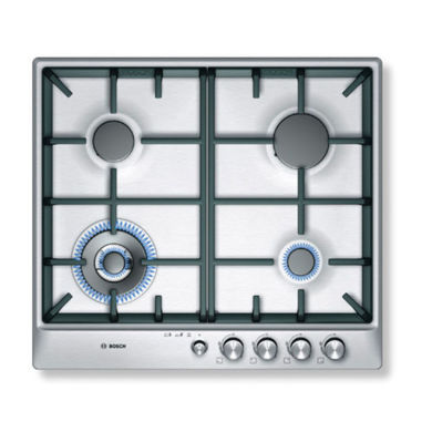 Bosch H45xW582xD520 Gas 4 Burner Hob - Stainless Steel