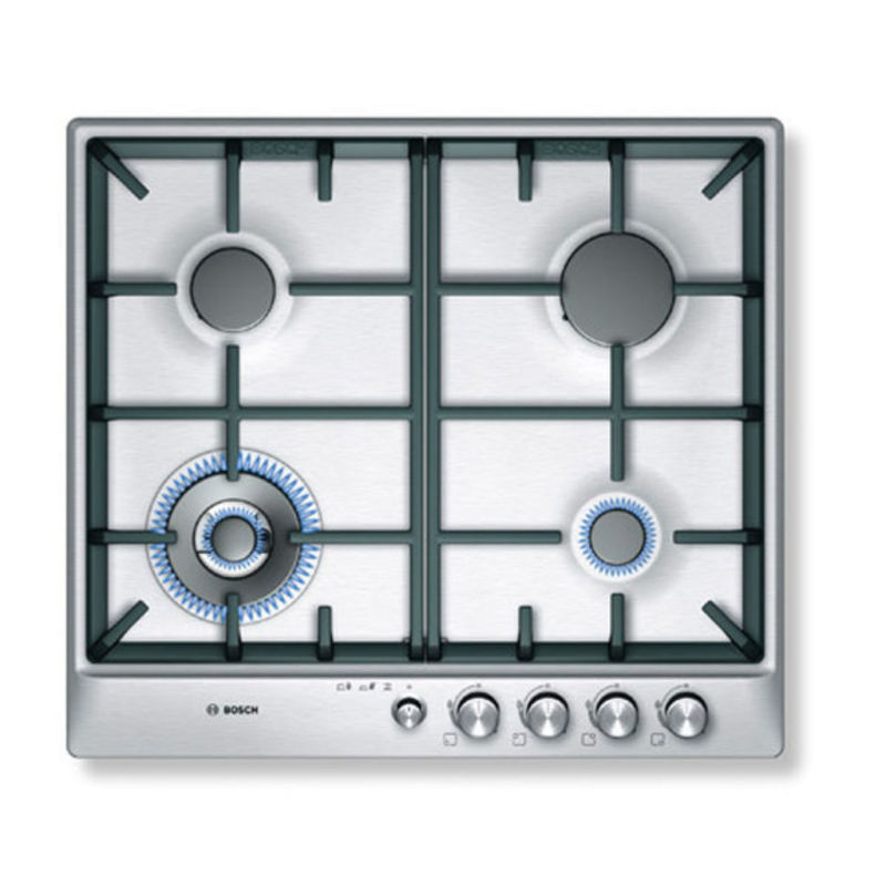 Bosch H45xW582xD520 Gas 4 Burner Hob - Stainless Steel primary image