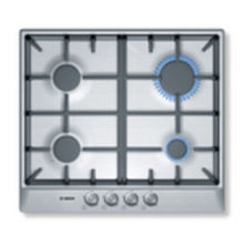 Bosch H52xW582xD520 Gas 4 Burner Hob - Stainless Steel