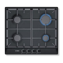 Bosch H52xW582xD520 Gas 4 Burner Hob - Black