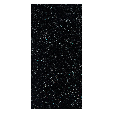 2960x1200x12 Worktop Rhino Edge-Mystic Black Gloss