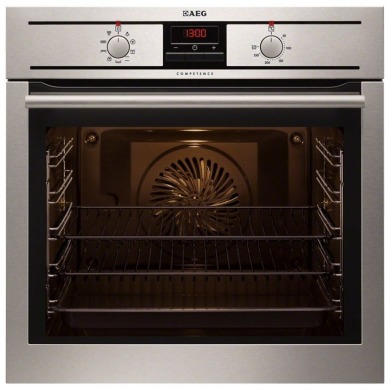 AEG H594xW594xD567 Single Electric Oven - Stainless Steel