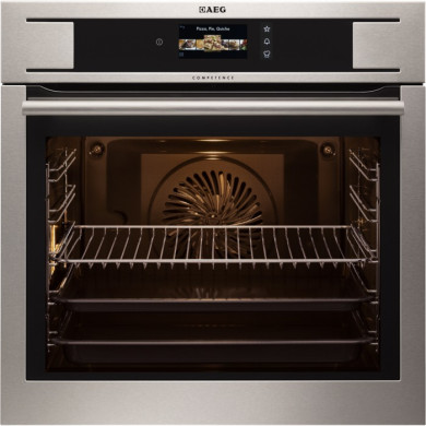 AEG H594xW594xD568 Single Electric Oven - Stainless Steel