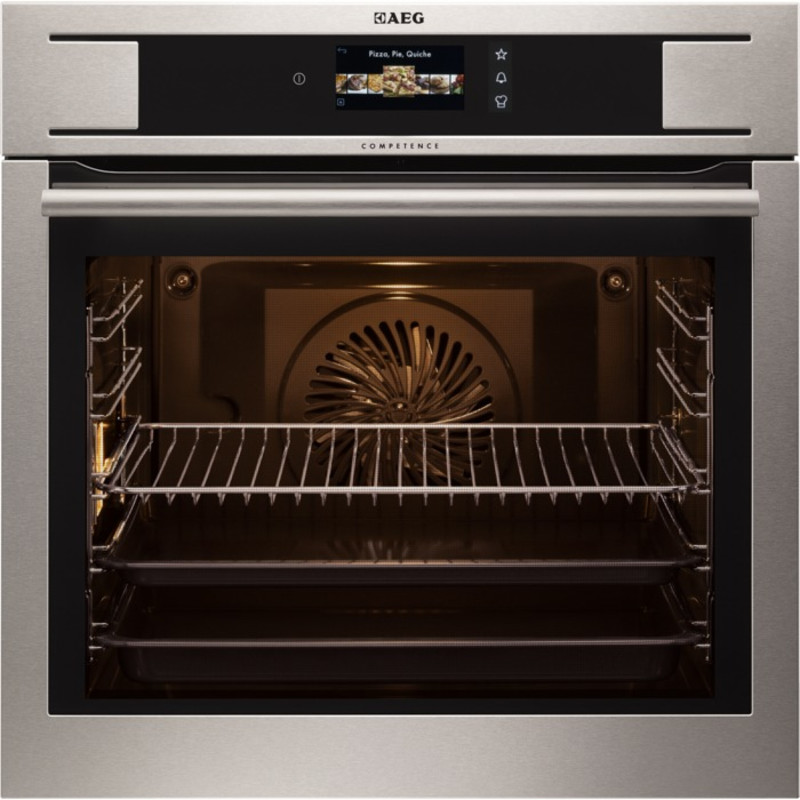 AEG H594xW594xD568 Single Electric Oven - Stainless Steel primary image
