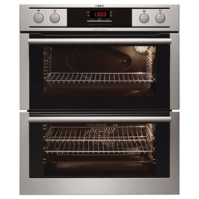 AEG H715xW594xD548 Built Under Double Electric Oven - Stainless Steel