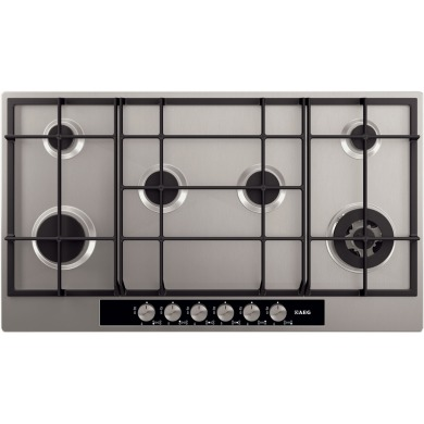 AEG H80xW894xD510 Gas On Glass 6 Burner Hob