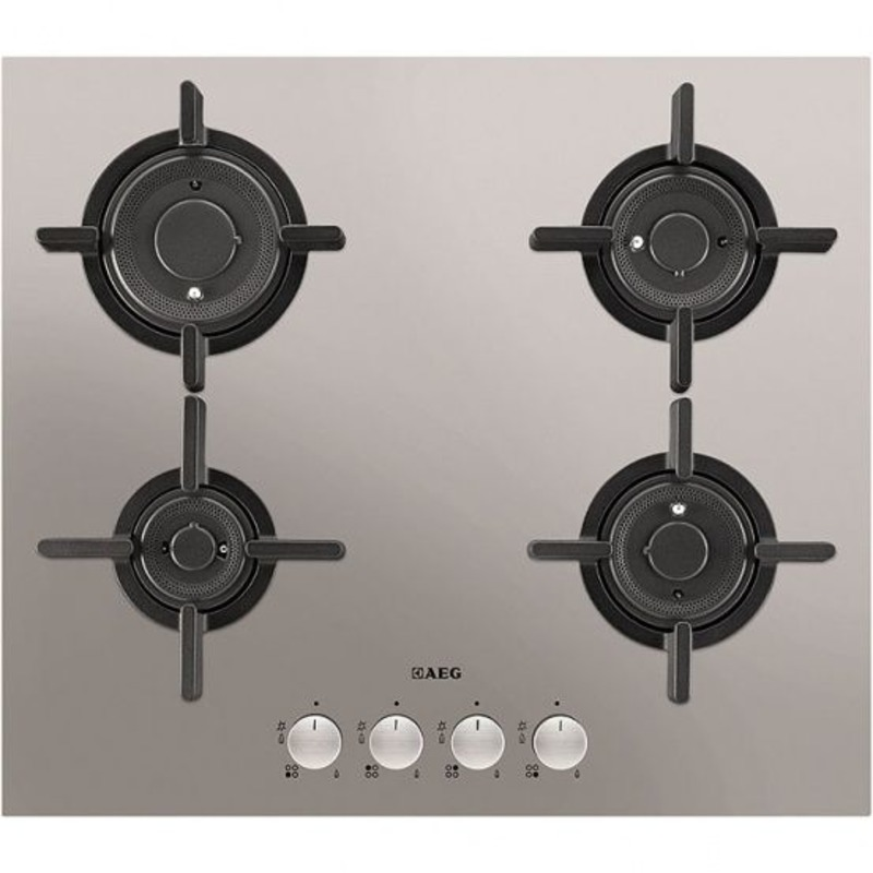 AEG H30xW590xD520 Gas 4 Burner Hob - Stainless Steel primary image